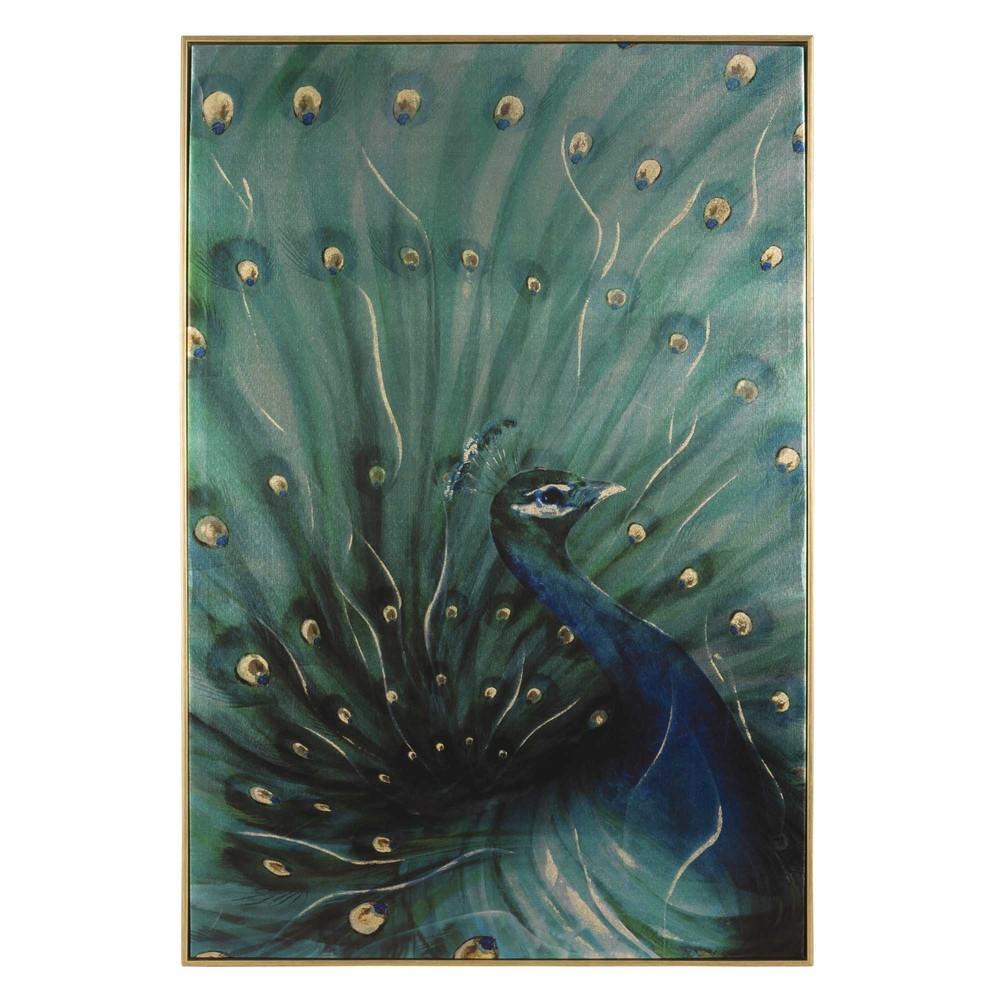 peacock canvas 60 x 90 cm maisons du monde. Black Bedroom Furniture Sets. Home Design Ideas