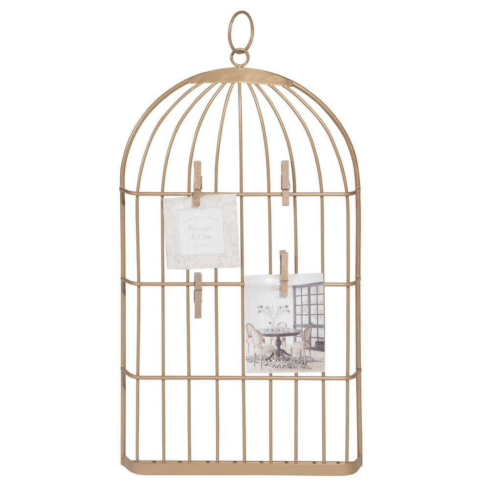 p le m le cage en m tal dor l gance maisons du monde. Black Bedroom Furniture Sets. Home Design Ideas