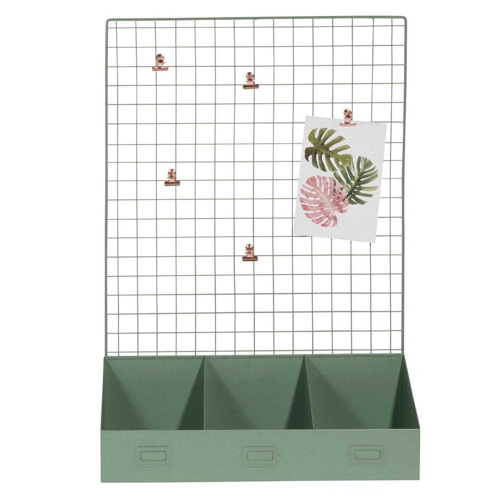 p le m le en m tal vert garden maisons du monde. Black Bedroom Furniture Sets. Home Design Ideas