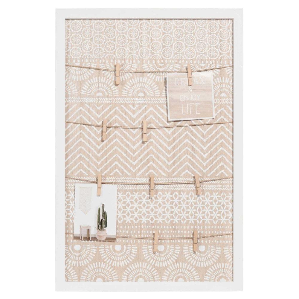 p le m le motifs blancs escale maisons du monde. Black Bedroom Furniture Sets. Home Design Ideas