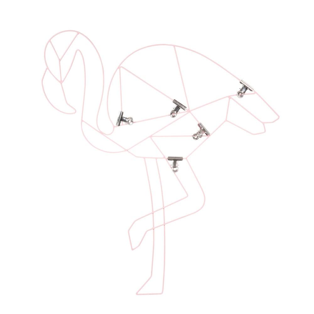p le m le photo en m tal rose 47 x 53 cm flamingo. Black Bedroom Furniture Sets. Home Design Ideas