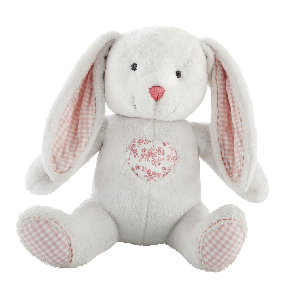 Peluche bianco a forma di coniglio per bambini h 22 cm victorine maisons du monde - Letto a forma di peluche ...