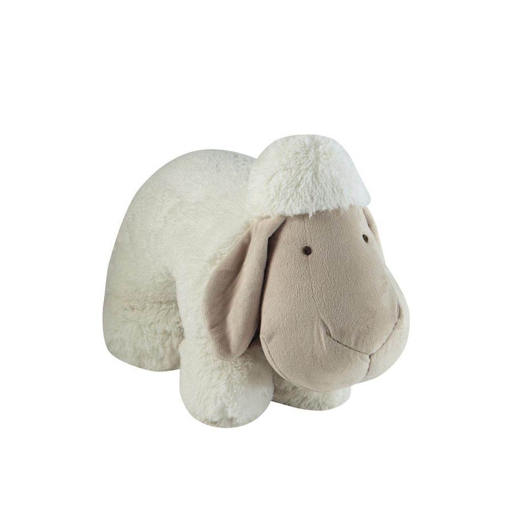 Peluche bianco a forma di pecora h 26 cm songe maisons du monde - Letto a forma di peluche ...