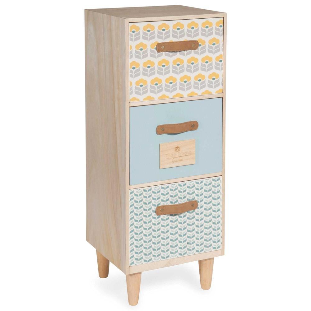 Petit meuble 3 tiroirs henriette maisons du monde for Petit meuble rangement avec tiroirs