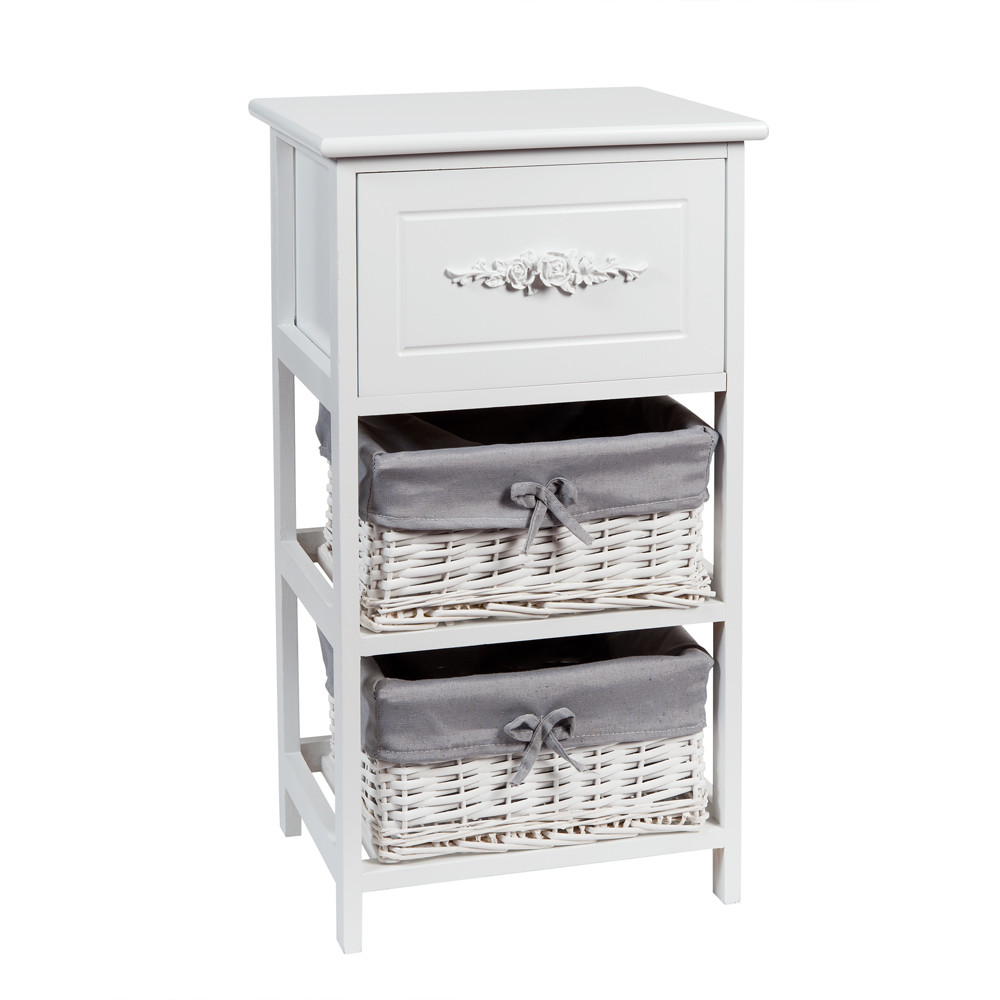petit meuble de rangement blanc l 37 cm rosa maisons du monde. Black Bedroom Furniture Sets. Home Design Ideas