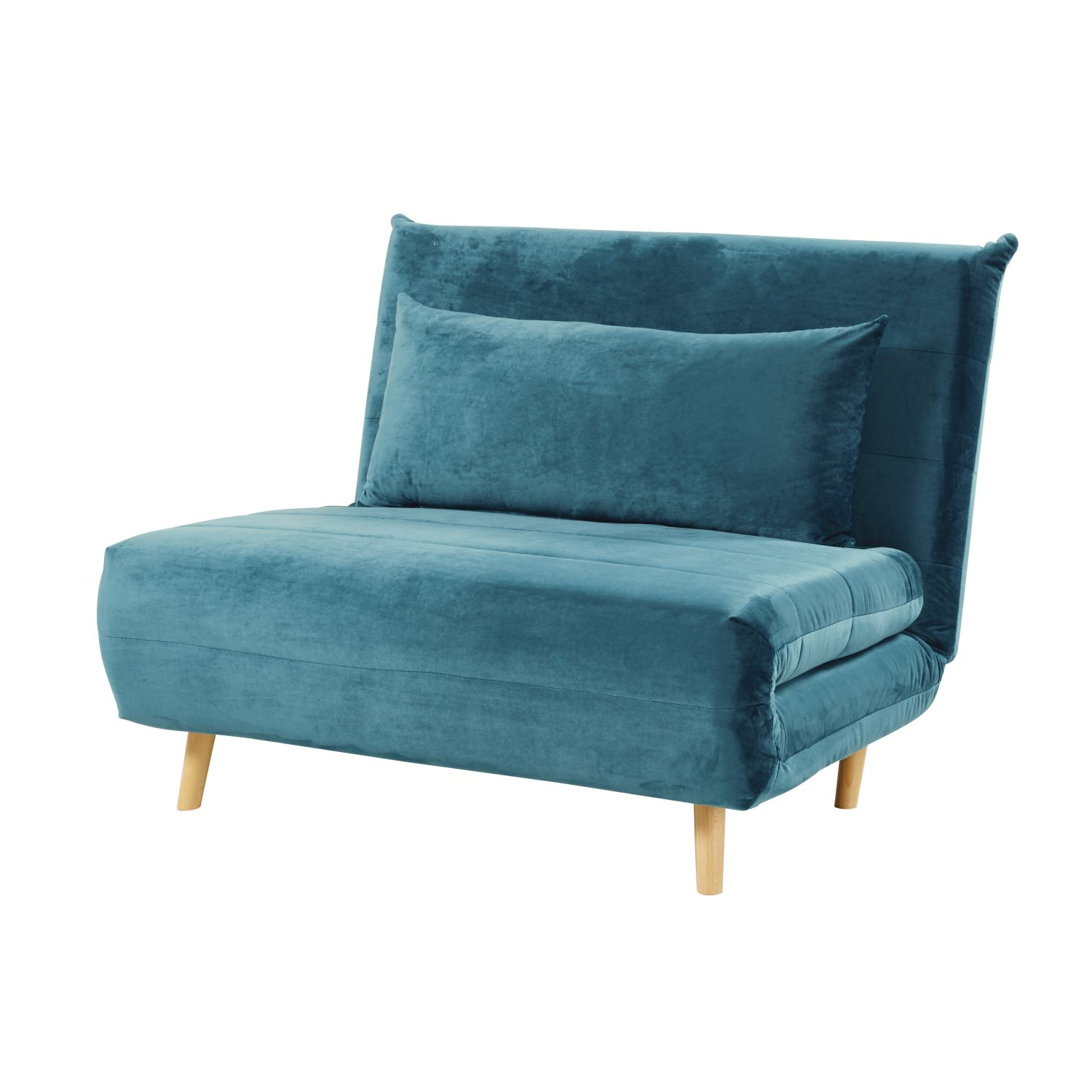 Petrol Blue Single Velvet Day Bed Sofa Nio Maisons Du Monde