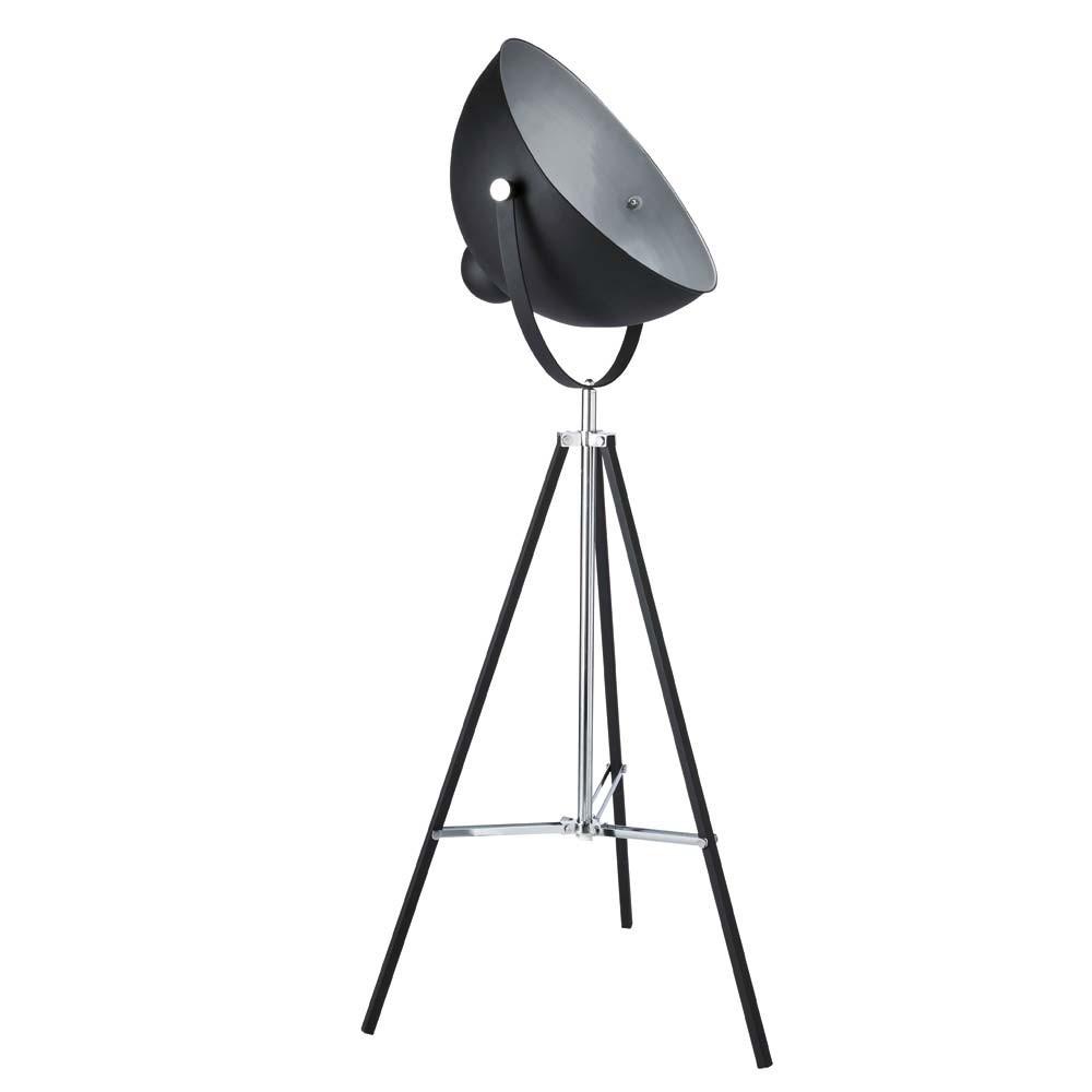 floor lamps photographe metal tripod floor lamp in black h 145cm. Black Bedroom Furniture Sets. Home Design Ideas