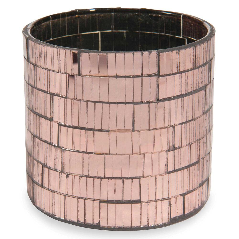 photophore en verre cuivr h 8 cm copper maisons du monde. Black Bedroom Furniture Sets. Home Design Ideas