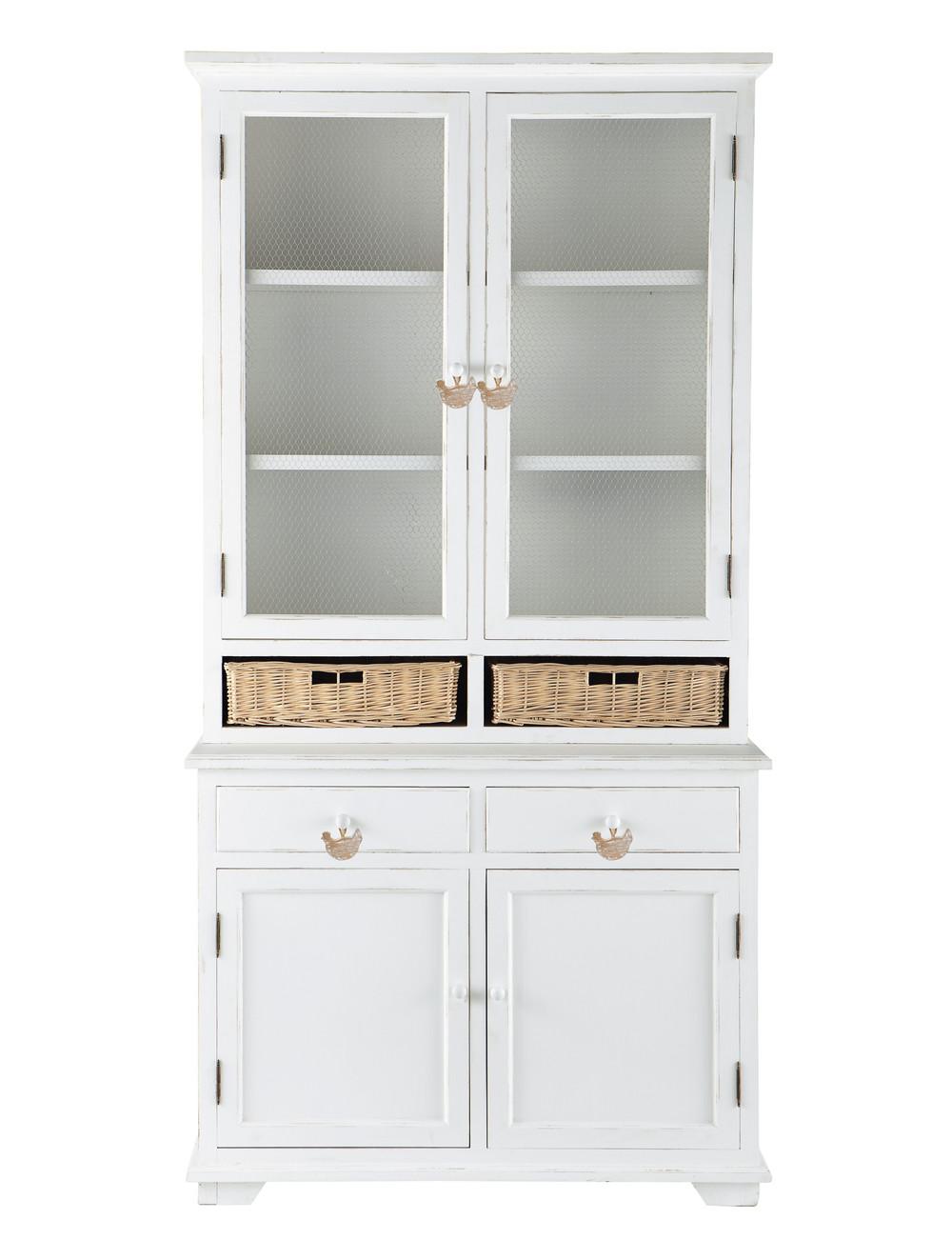 Piattaia bianca in legno di paulonia l 110 cm basse cour for Paulownia legno mobili