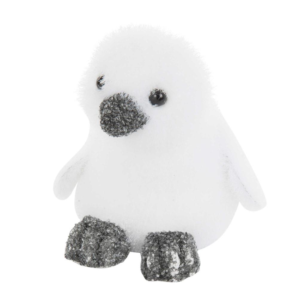 pingouin floqu pour sapin blanc givre maisons du monde. Black Bedroom Furniture Sets. Home Design Ideas