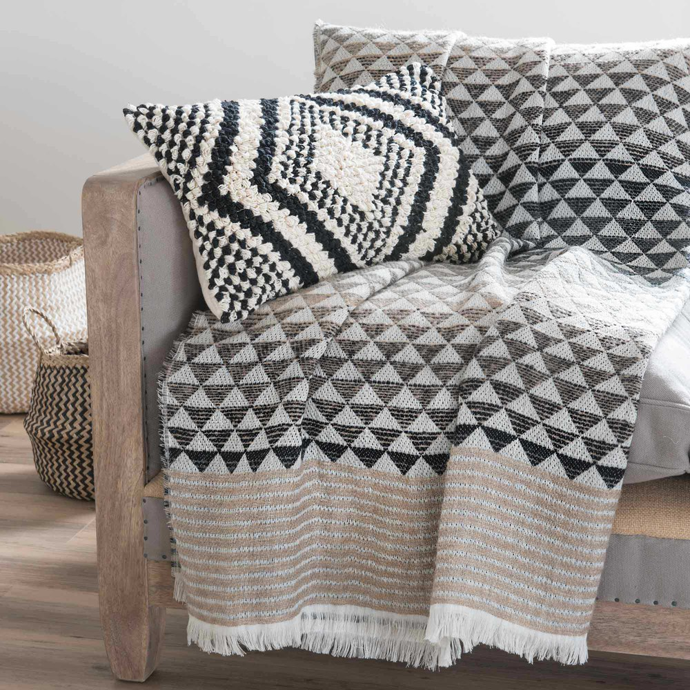 Plaid 130 x 170 cm scicli maisons du monde for Plaid maison du monde