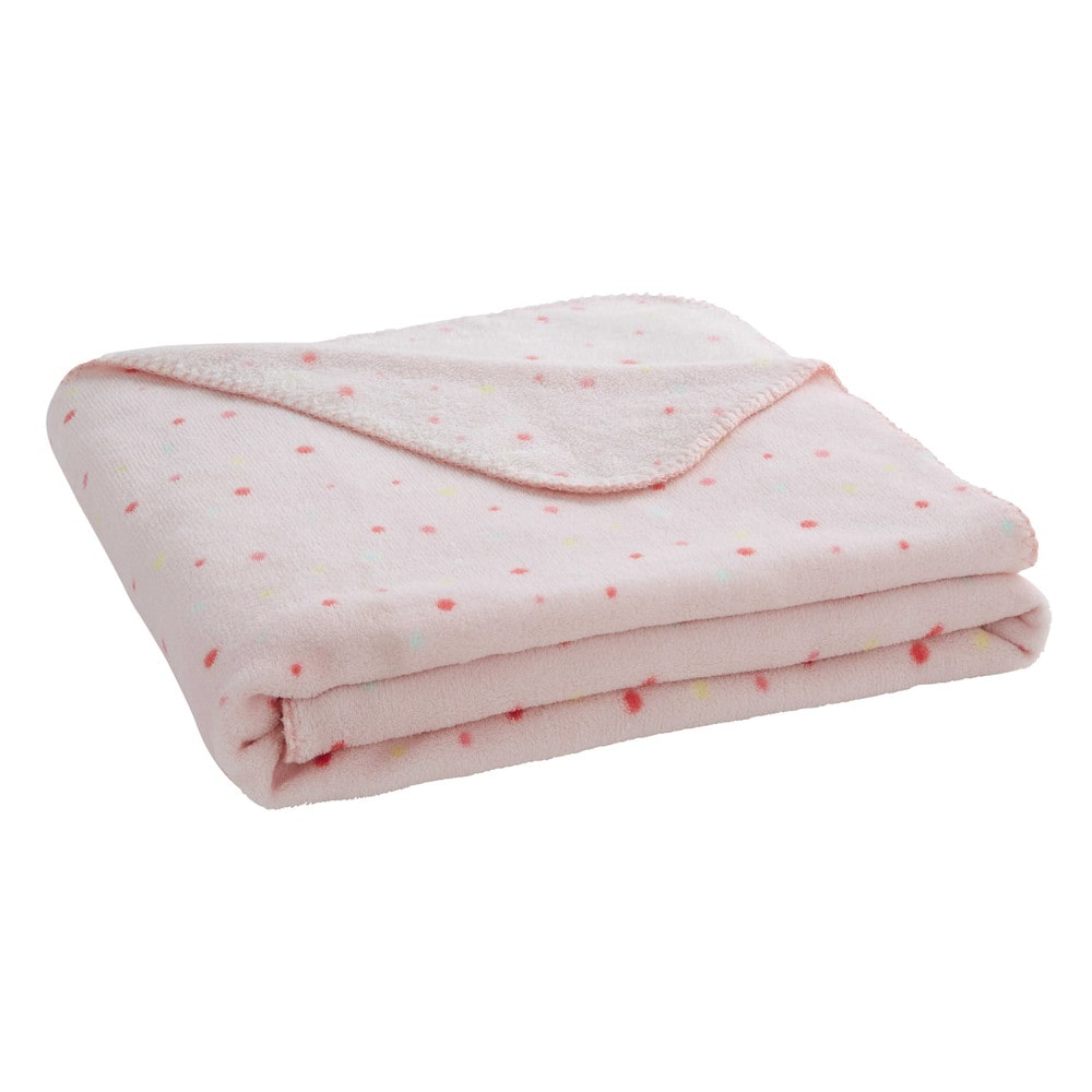 Plaid pois rose 130 x 170 cm berlingot maisons du monde for Plaid maison du monde