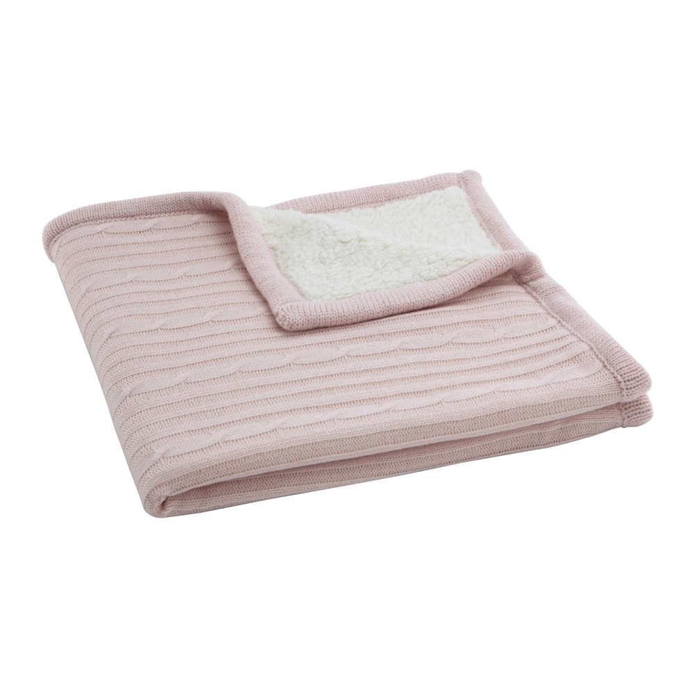 plaid bambino rosa 77 x 77 cm valentine maisons du monde. Black Bedroom Furniture Sets. Home Design Ideas