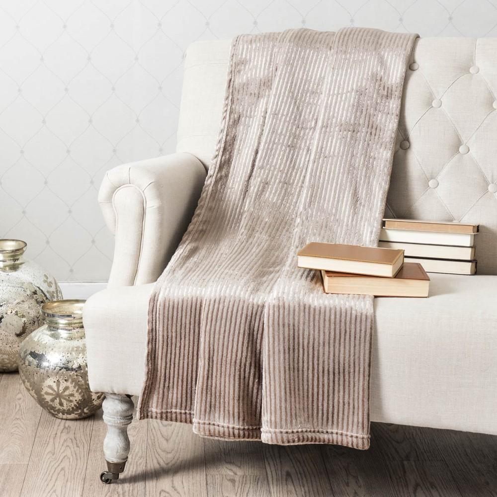 plaid beige 150 x 230 cm boudoir maisons du monde. Black Bedroom Furniture Sets. Home Design Ideas