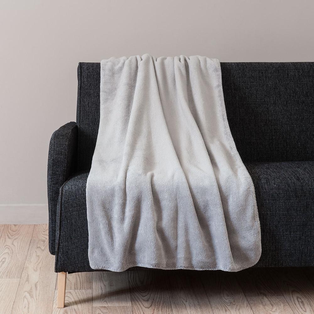 plaid chantilly aus stoff 150 x 230 cm silbergrau maisons du monde. Black Bedroom Furniture Sets. Home Design Ideas