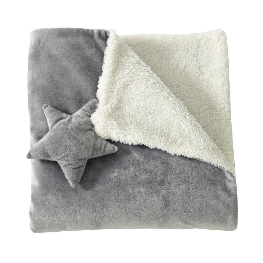 Plaid enfant en tissu gris 65 x 65 cm ast rope maisons for Plaid maison du monde