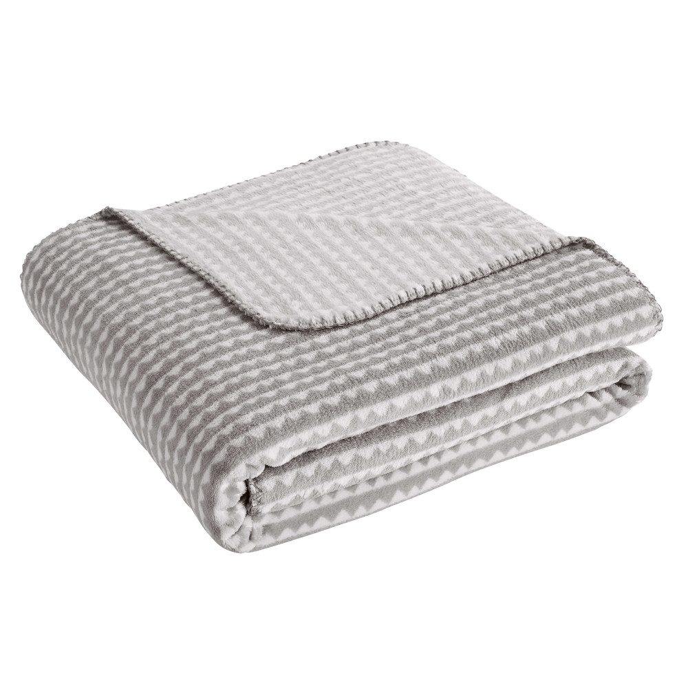 Plaid enfant gris 170x130 wave maisons du monde for Maison du monde waves metz
