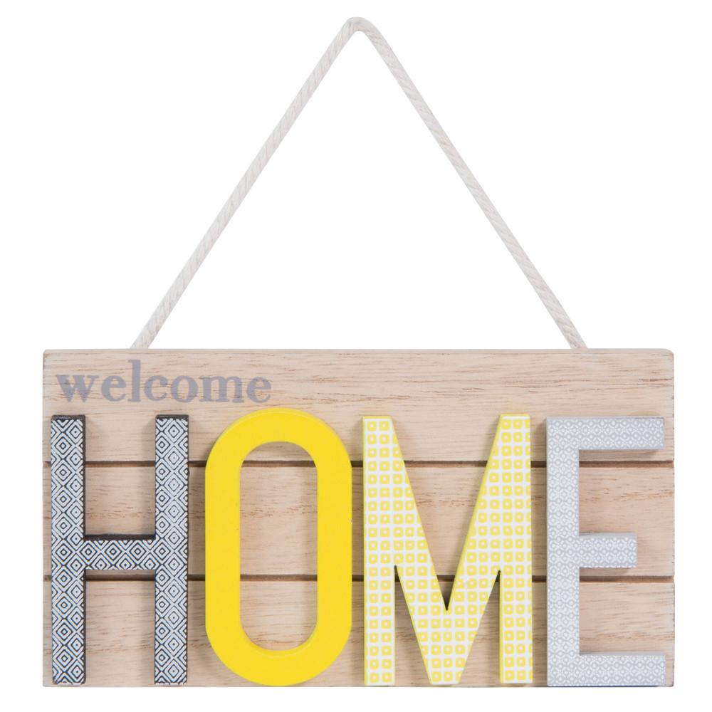 Plaque de porte en bois L 15 cm YELLOW HOME Maisons du Monde # Plaque De Porte En Bois