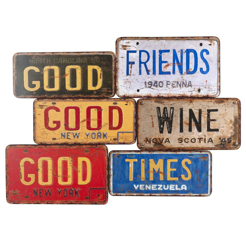 plaque d co en m tal l 68 cm us signs maisons du monde