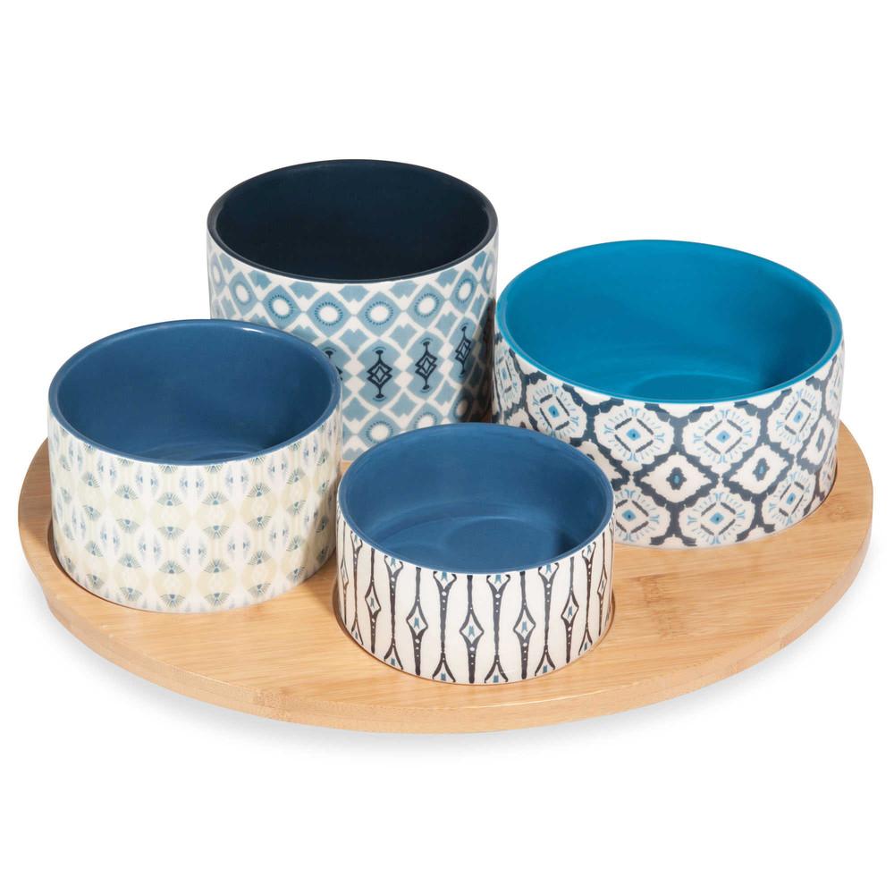 plateau ap ritif en fa ence motifs bleus caixo maisons du monde. Black Bedroom Furniture Sets. Home Design Ideas
