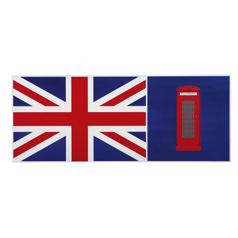 plateau de bureau r versible bleu drapeau anglais l150 desk maisons du monde. Black Bedroom Furniture Sets. Home Design Ideas