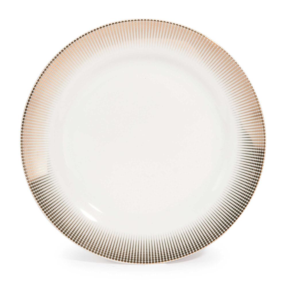 Plato de postre de porcelana d 19 cm versailles maisons - Platos maison du monde ...