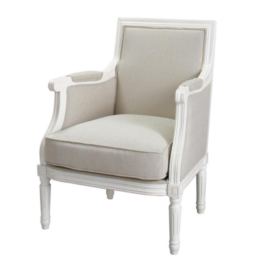 Poltrona beige grigio chiaro in cotone casanova maisons du monde - Maison du monde fauteuil suspendu ...