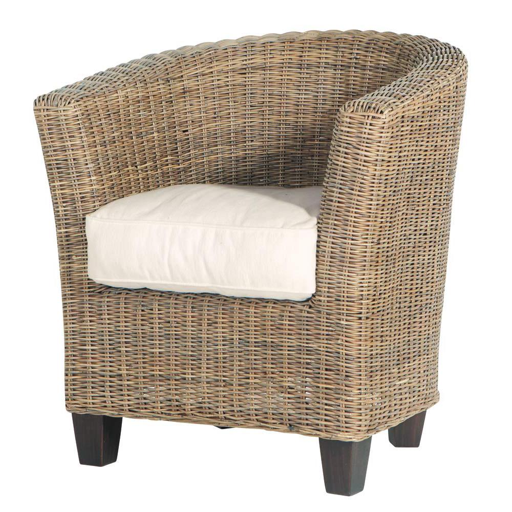 poltrona da giardino in rattan zanzibar maisons du monde. Black Bedroom Furniture Sets. Home Design Ideas