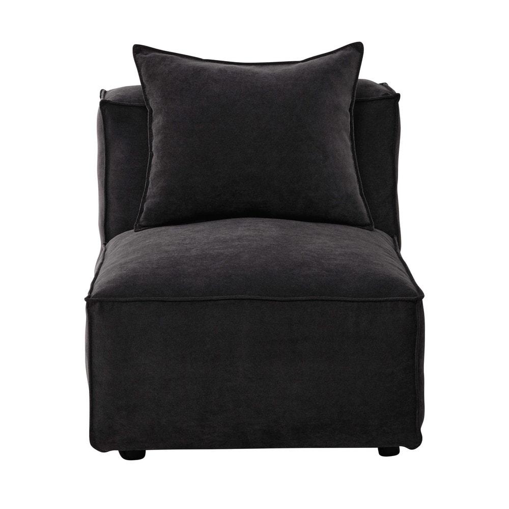 Poltrona modulabile per divano in tessuto grigio ardesia - Tessuto per divano ...