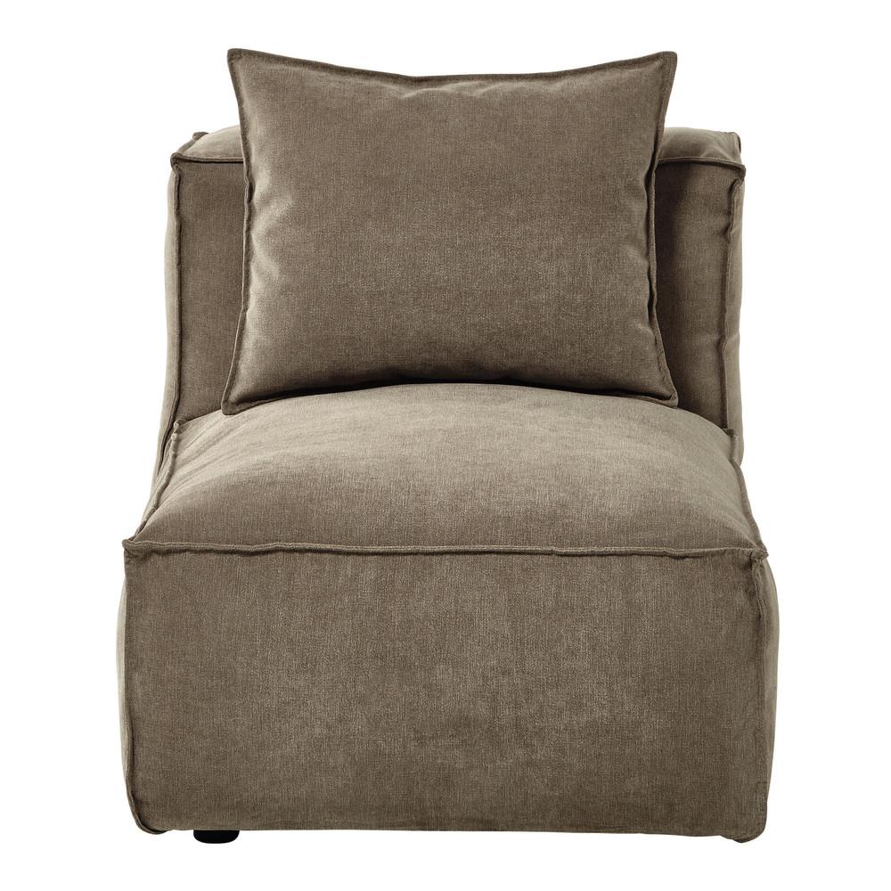 Poltrona modulabile per divano in tessuto talpa chin for Poltrona letto maison du monde