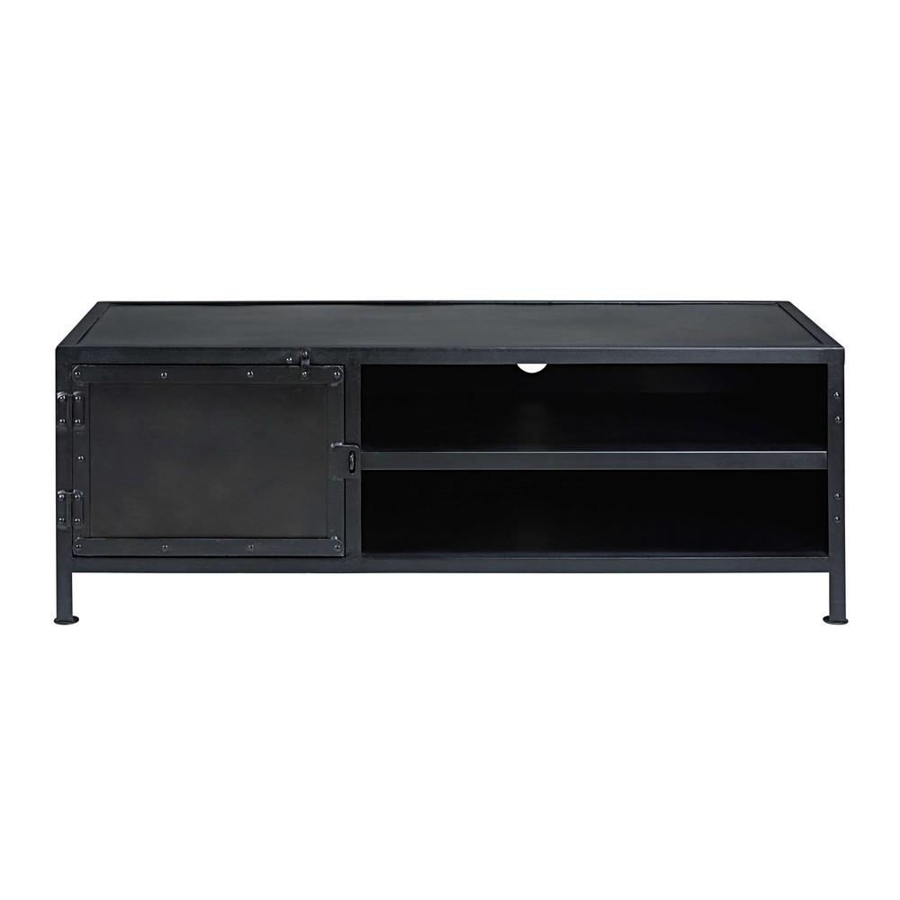 Porta tv stile industriale 1 porta in metallo nero edison - Scala porta asciugamani maison du monde ...