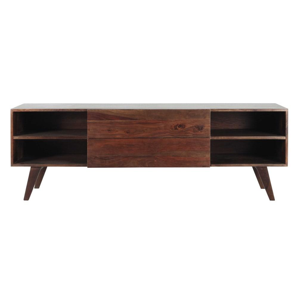 Porta-TV vintage in massello di legno di sheesham L 160 cm Soho ...