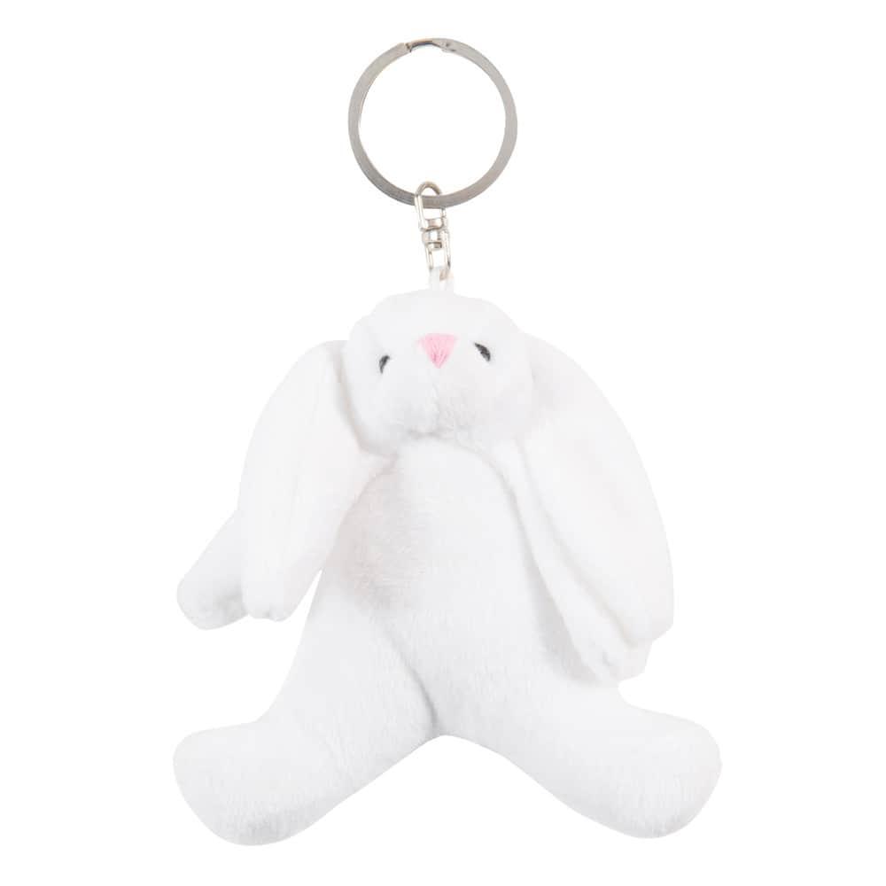 Portachiavi bianco in tessuto a forma di coniglio di peluche noah maisons du monde - Letto a forma di peluche ...