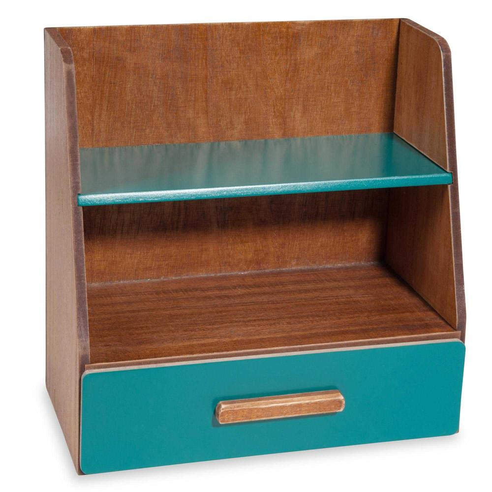 Portaoggetti per scrivania blu vintage maisons du monde for Portaoggetti scrivania