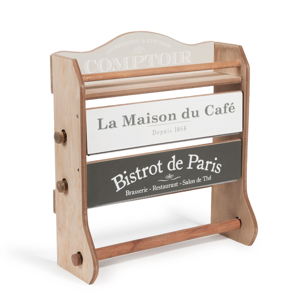 Portascottex in legno da parete h 37 cm maison du caf for Maison du monde orologi parete