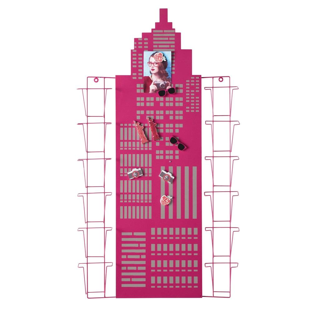 Porte cartes rose 58 x 105 cm casting maisons du monde - Porte photo maison du monde ...