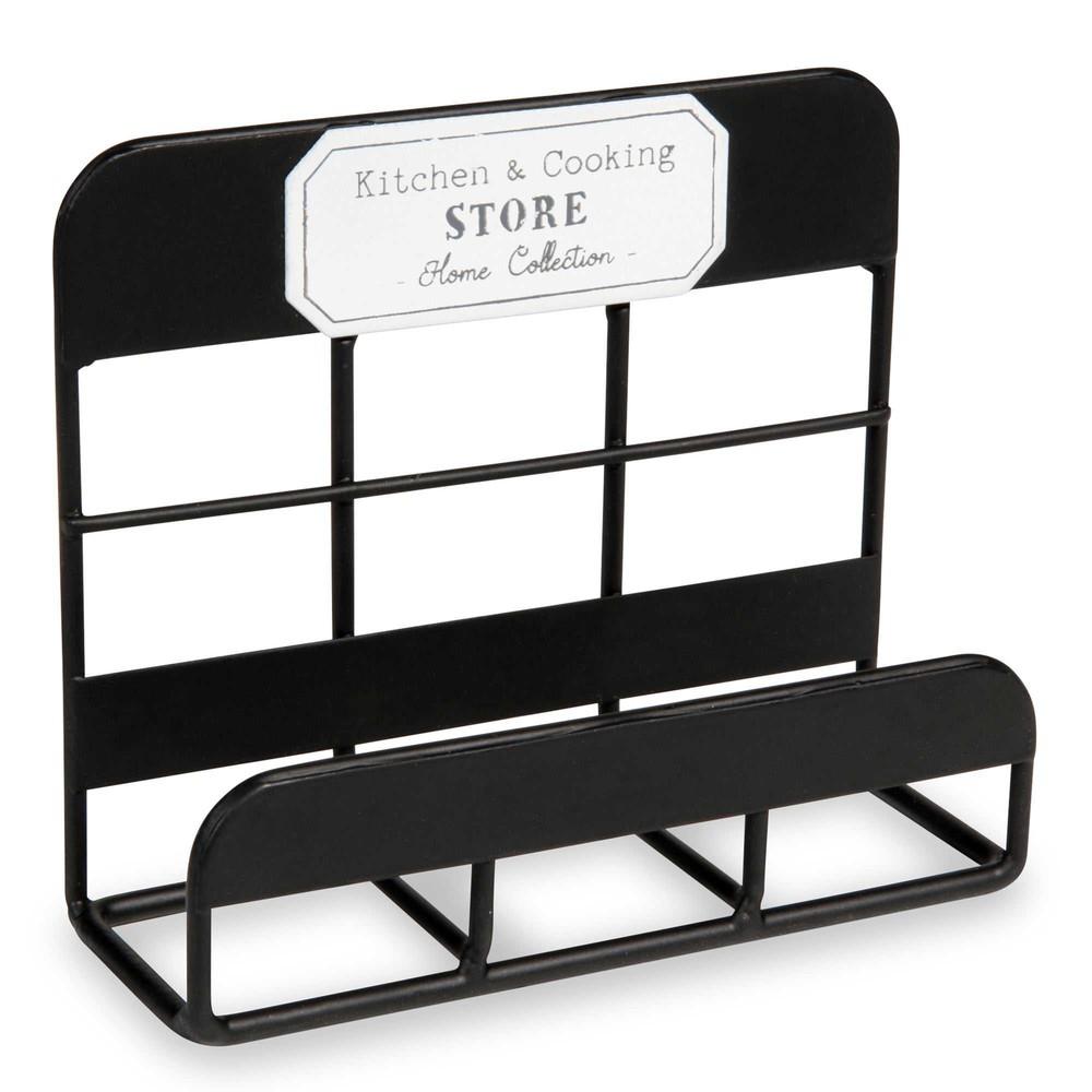 porte ponge en m tal noir cooking store maisons du monde. Black Bedroom Furniture Sets. Home Design Ideas