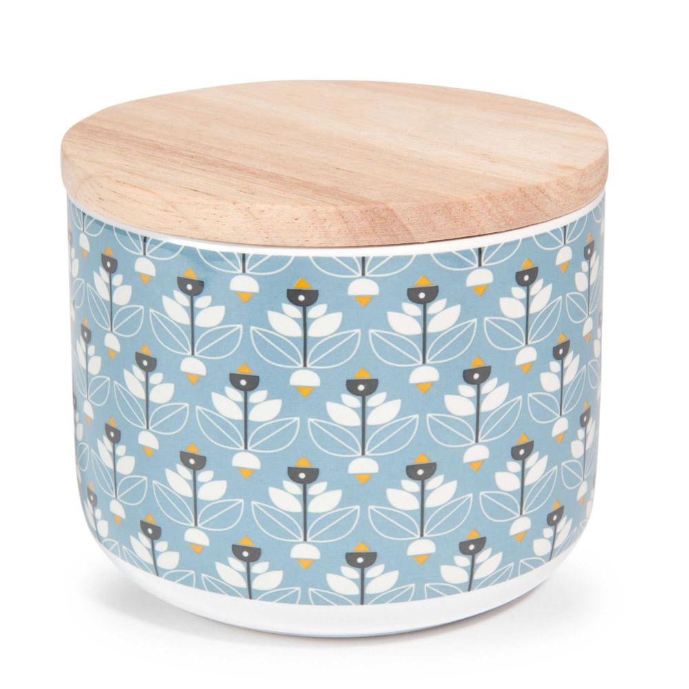 Portobello blue faience container h 8 cm maisons du monde for Container maison du monde