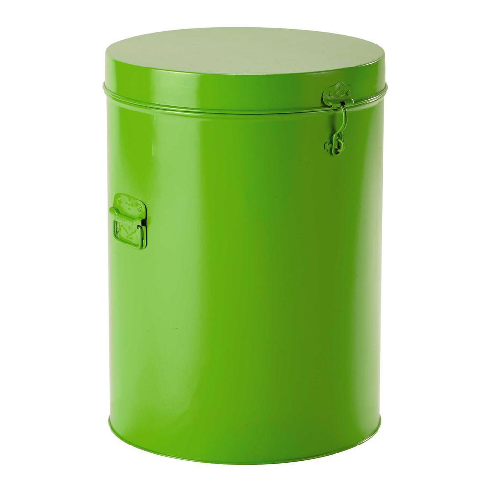 poubelle en m tal verte h 53 cm peter maisons du monde. Black Bedroom Furniture Sets. Home Design Ideas