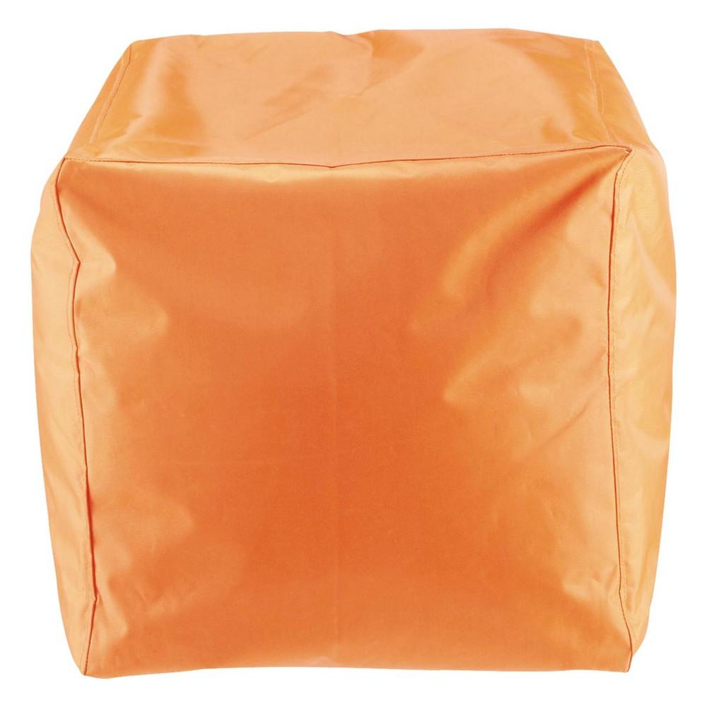 Pouf Arancione Da Giardino In Plastica Multico Maisons Du Monde