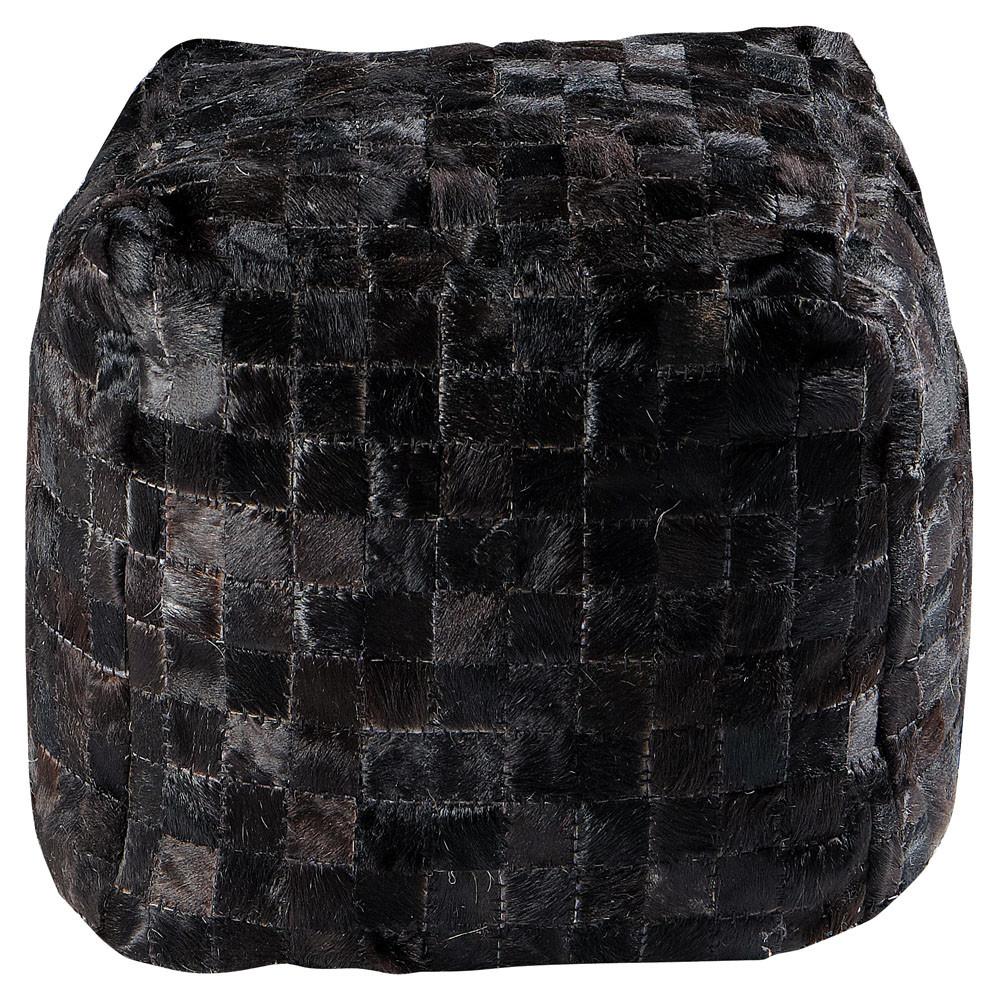 pouf arty noir maisons du monde. Black Bedroom Furniture Sets. Home Design Ideas