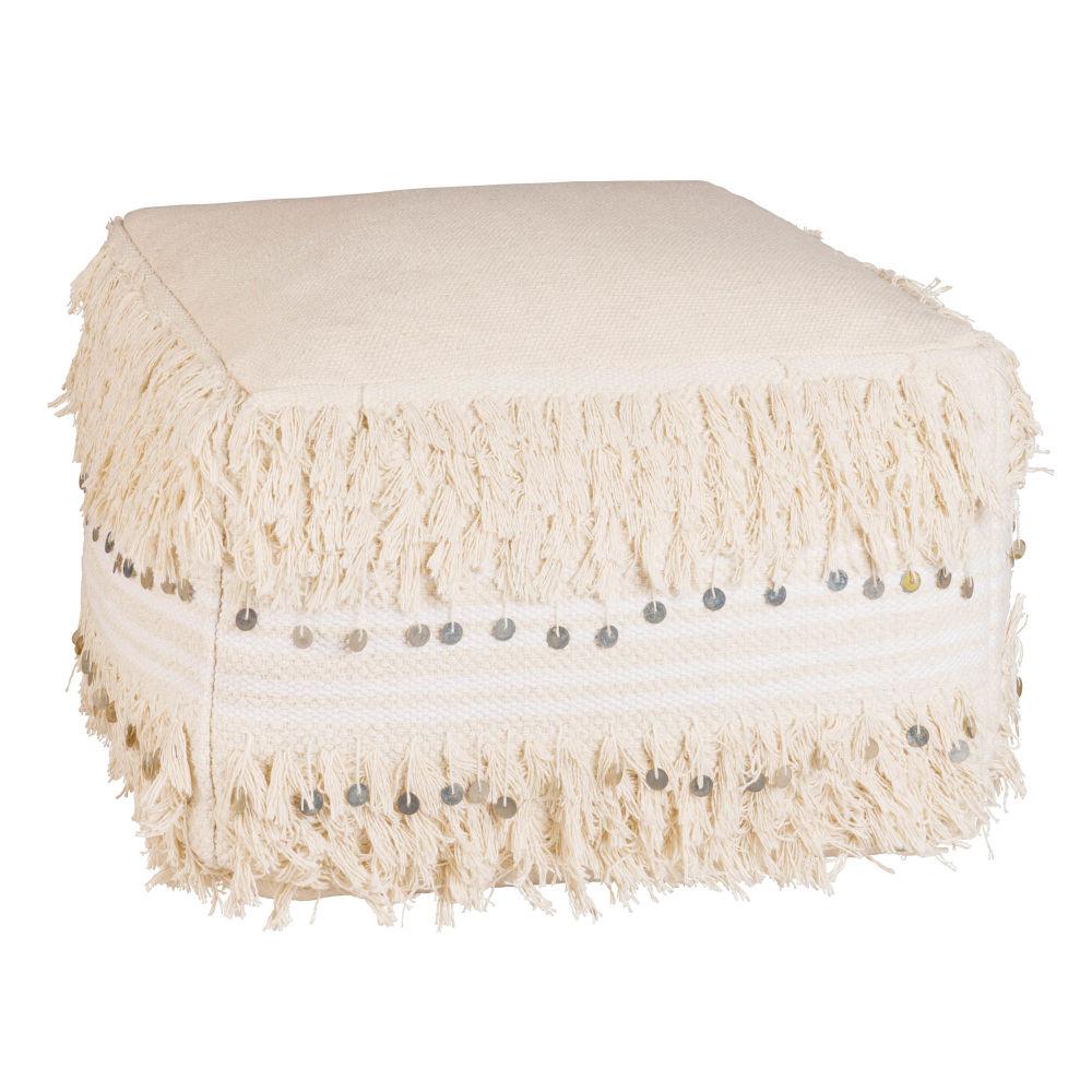 pouf berb re en coton cru maisons du monde. Black Bedroom Furniture Sets. Home Design Ideas