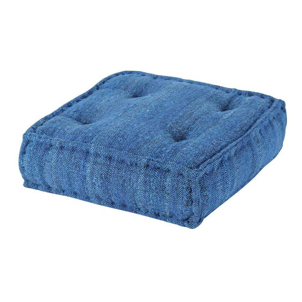 pouf bleu cobalt bleu maisons du monde. Black Bedroom Furniture Sets. Home Design Ideas