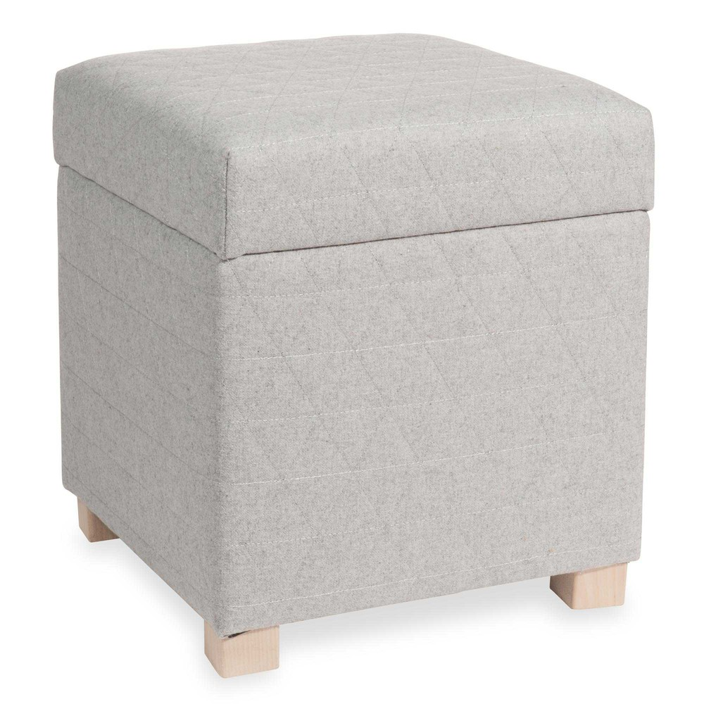pouf coffre gris lapland maisons du monde. Black Bedroom Furniture Sets. Home Design Ideas