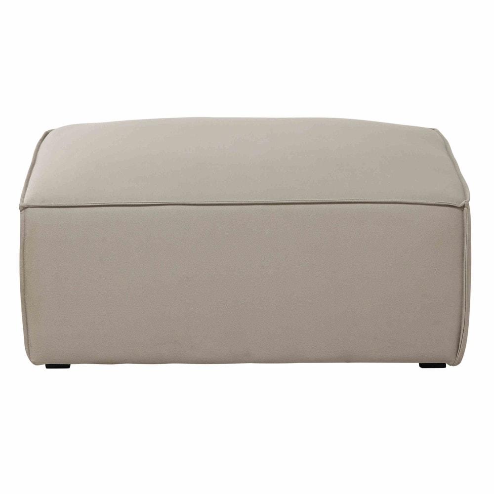 pouf de canap modulable en coton beige colombus maisons du monde. Black Bedroom Furniture Sets. Home Design Ideas