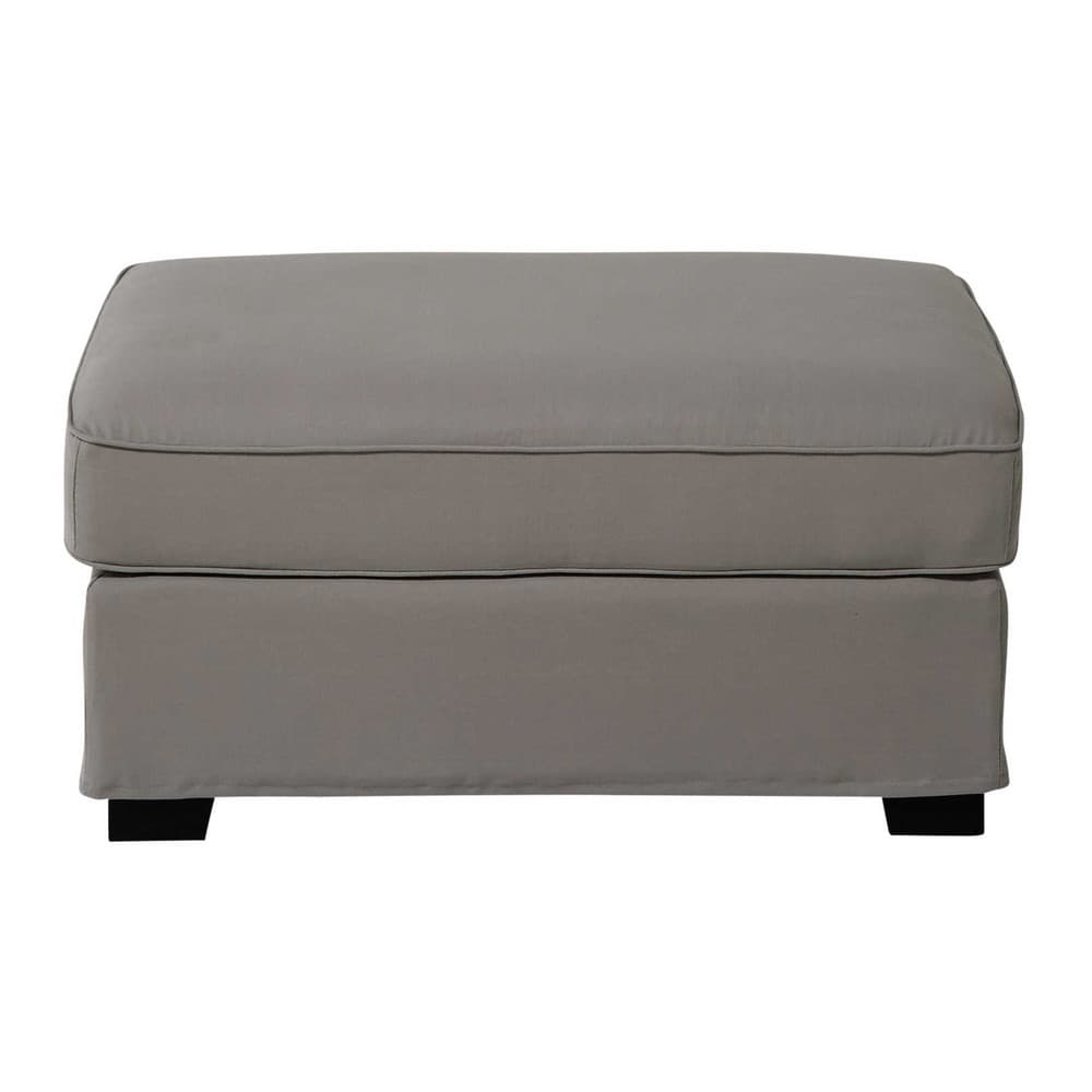 pouf de canap modulable en coton gris clair milano maisons du monde. Black Bedroom Furniture Sets. Home Design Ideas