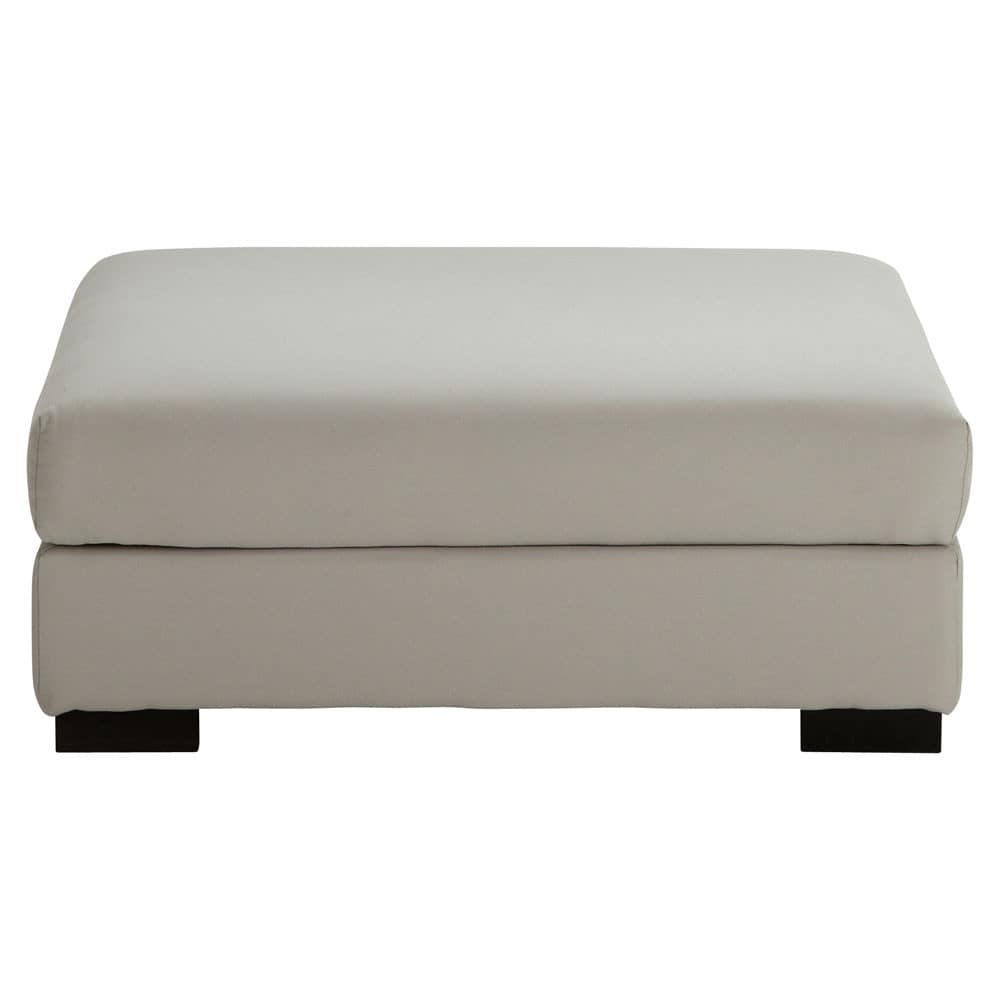 pouf de canap modulable en coton gris clair terence maisons du monde. Black Bedroom Furniture Sets. Home Design Ideas