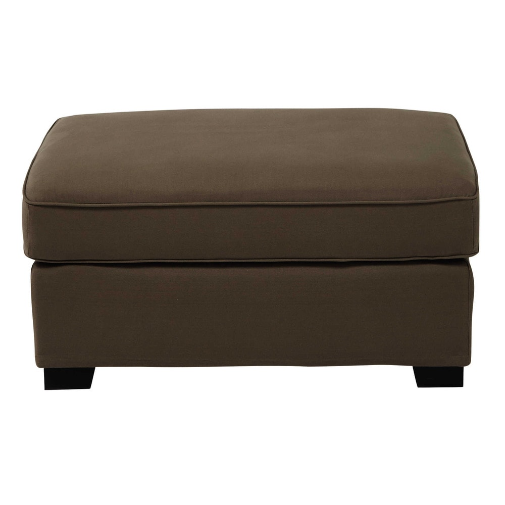 pouf de canap modulable en coton taupe milano maisons du monde. Black Bedroom Furniture Sets. Home Design Ideas