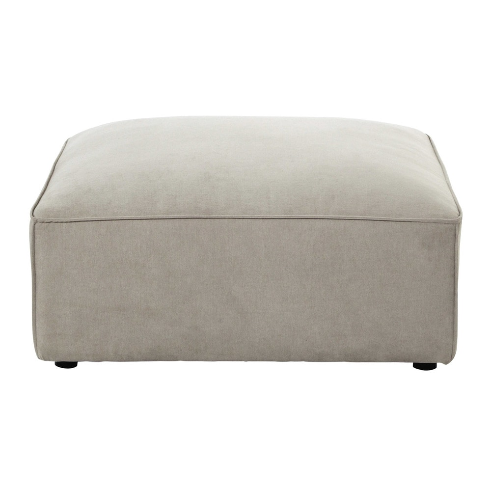 pouf de canap modulable en tissu beige malo maisons du monde. Black Bedroom Furniture Sets. Home Design Ideas