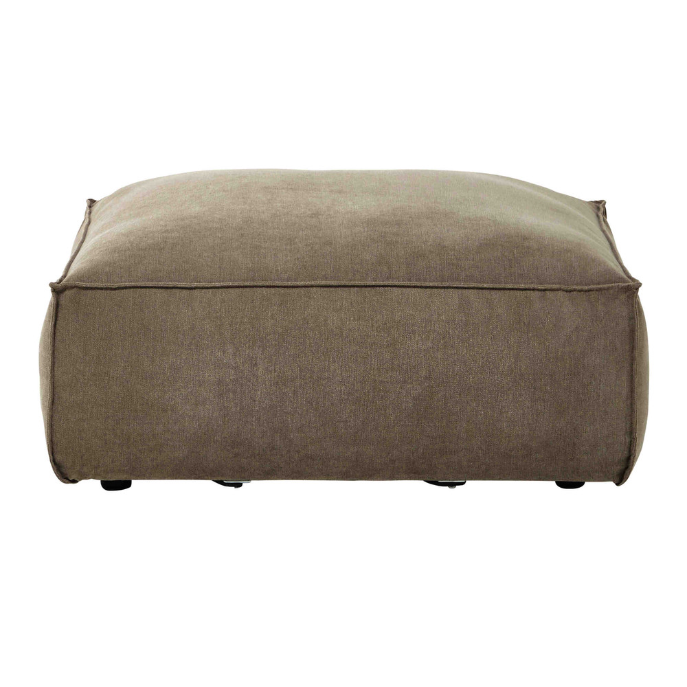 pouf de canap modulable en tissu taupe chin rubens maisons du monde. Black Bedroom Furniture Sets. Home Design Ideas
